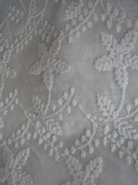 Unique White Embroidery Cotton Fabric Half Yard By Fabricana 6 50