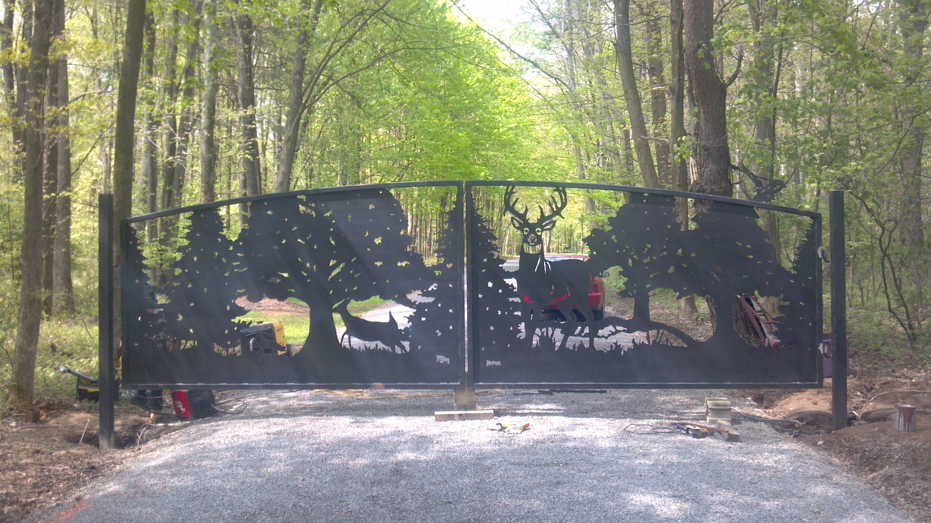 Driveway Gates Designs Deer Gates Metal Art Entrance