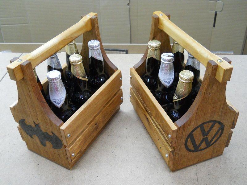Pallet Wood Beer Totes Gifts 3 Porte Bouteilles De Biere De Bois De Palettes Cadeaux Palette Bois Porte Bouteille Bouteille De Biere