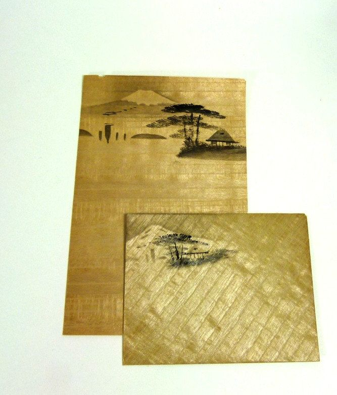 vintage rice paper stationery and envelopes from late 1940 s
