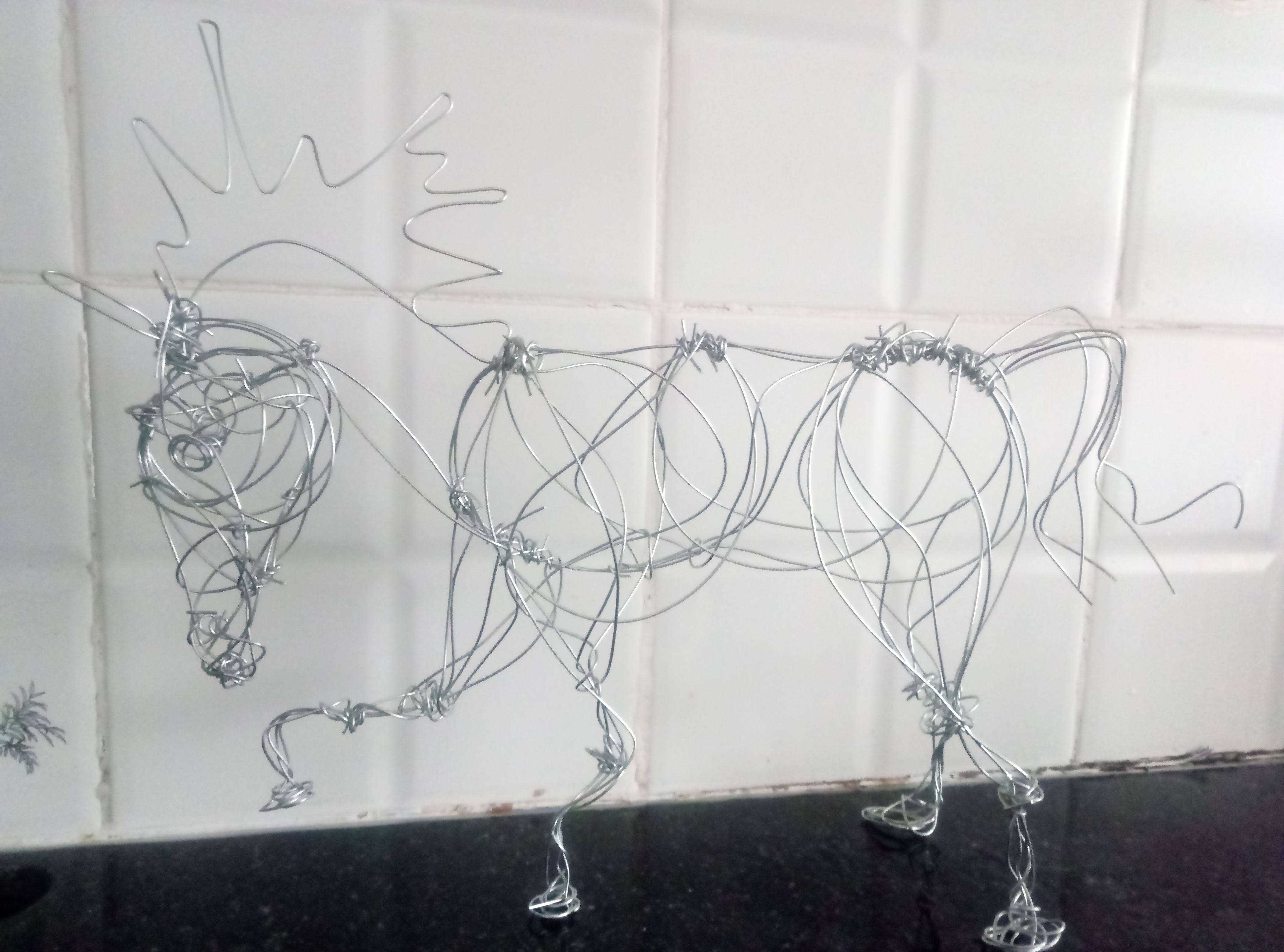 Handmade Wire Horse - Special Price!  Check my Etsy shop link
