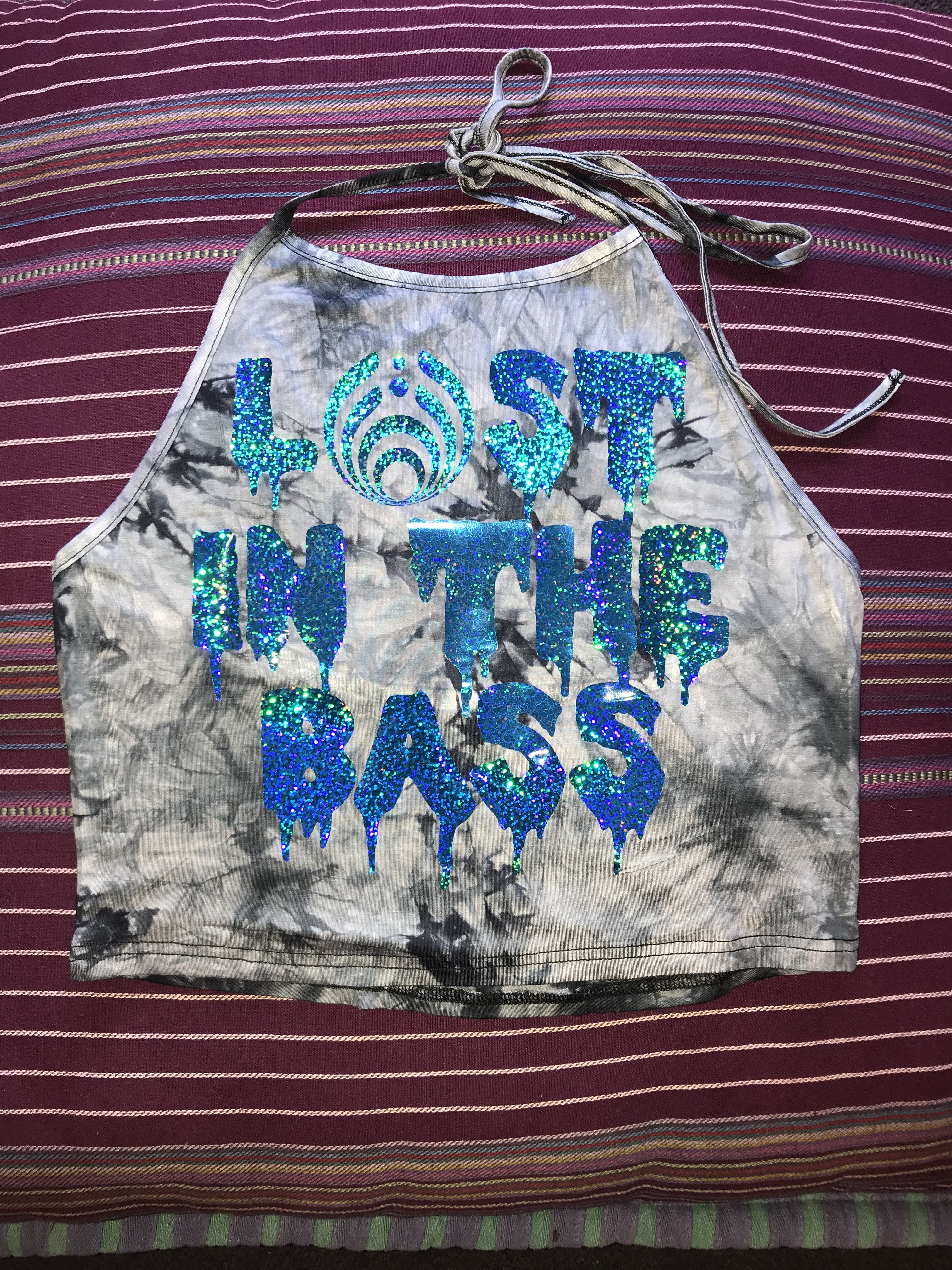 Lost In The Bass Holographic Tie Dye Rave Crop Top Edm Edm