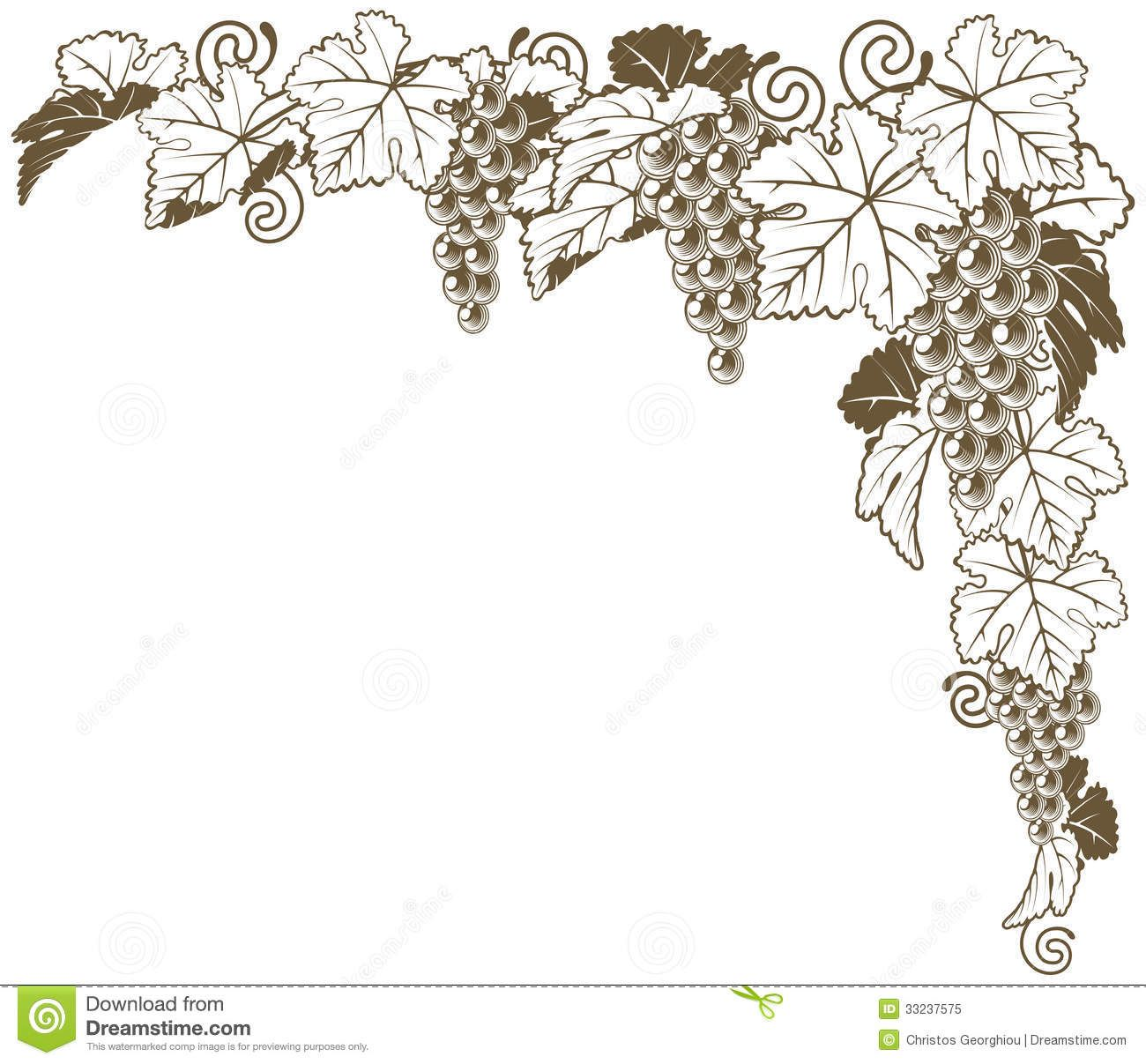Grape Vine Corner Ornament - Download From Over 35 Million ...