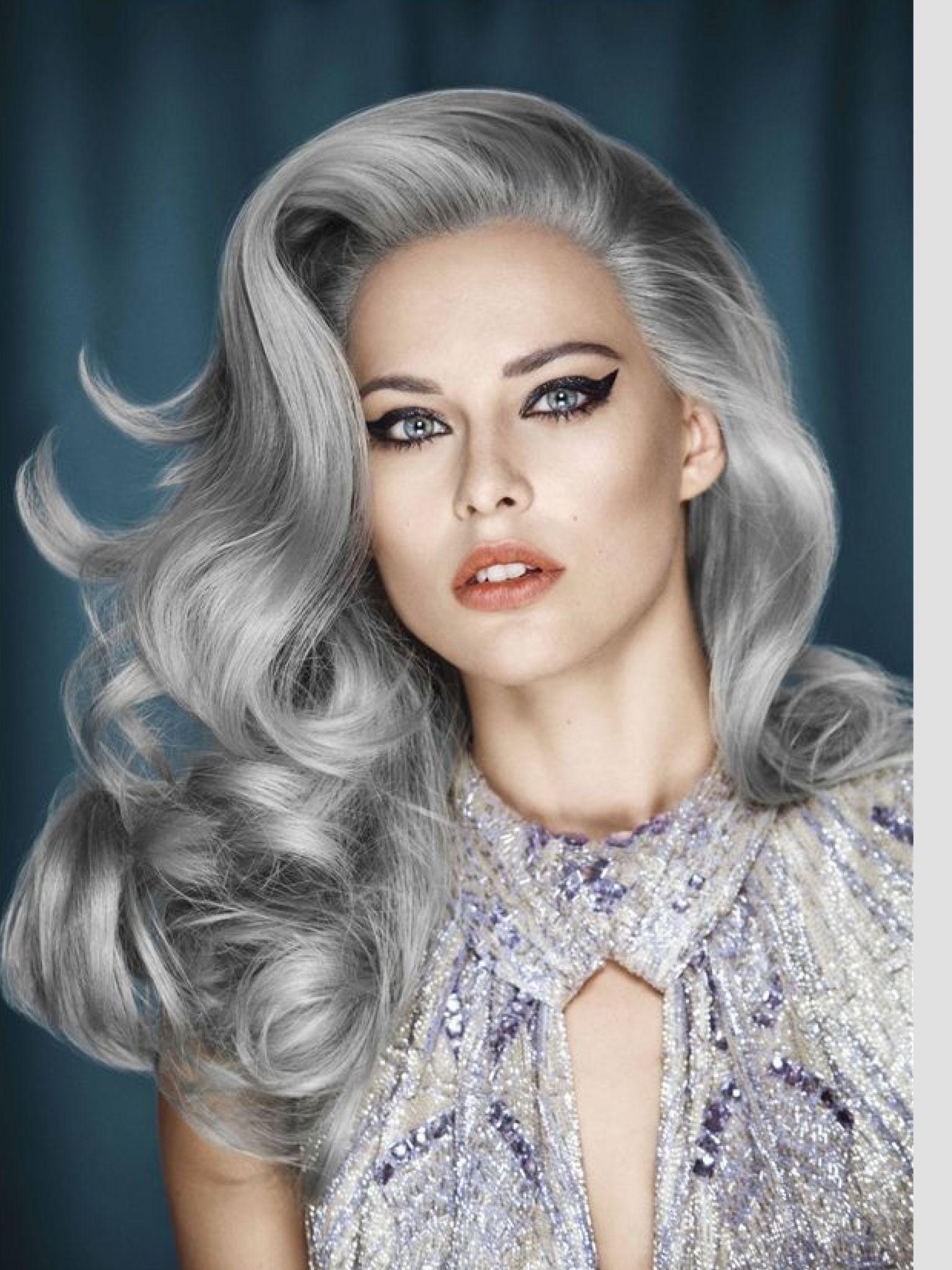 Gray hair can be really beautiful! Hair & Makeup Pinterest