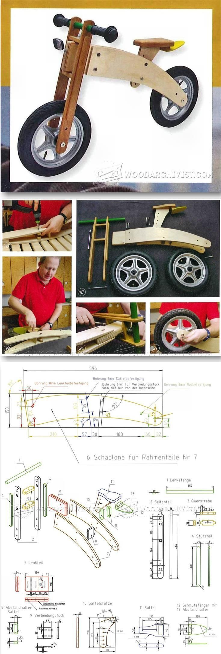 Balance Bike Plans Childrens Outdoor Plans And Projects