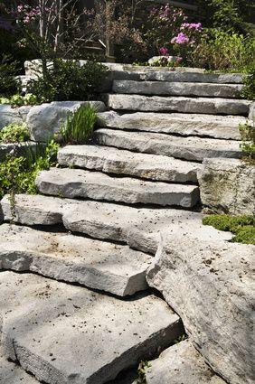 Stunning Natursteintreppe f r den Garten