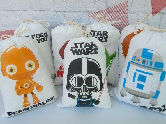 16b54ef57 Adorable cumpleaños Star Wars favor las bolsas grandes para eventos de  cumpleaños de niñas o niños