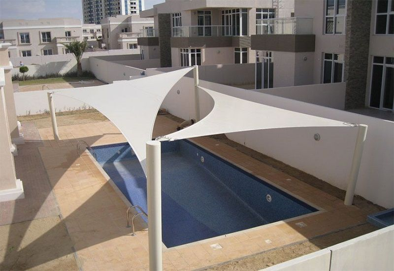 Sail Shade Parking Shade Swimming Pool Shade In 2020 Shade Sails Patio Park Shade Pool Shade