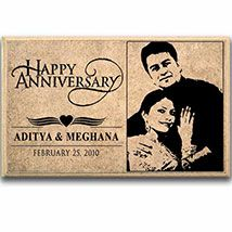 Personalized Wooden Plaque For Anniversary gifts @ www.primogiftsindia.com/personalised-gifts-189.html #Primogiftsindia