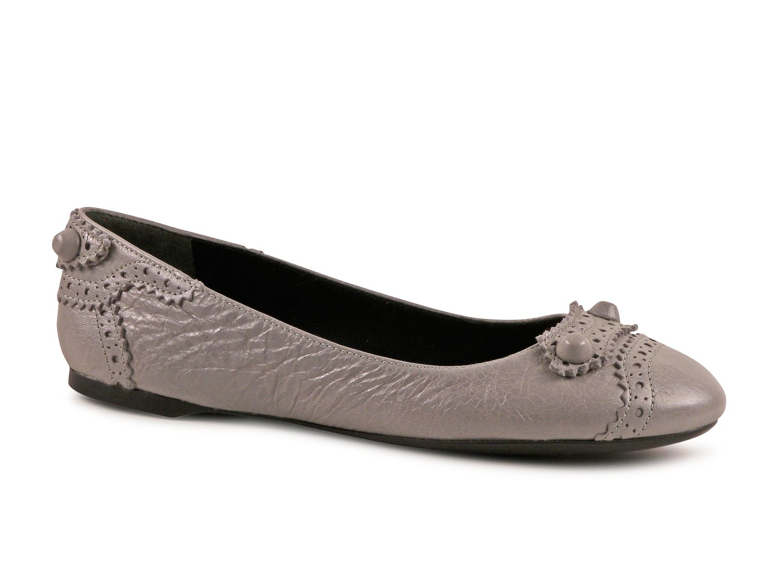 fc37e8c258 Balenciaga flats ballerina shoes in Stone Leather - Italian Boutique ...