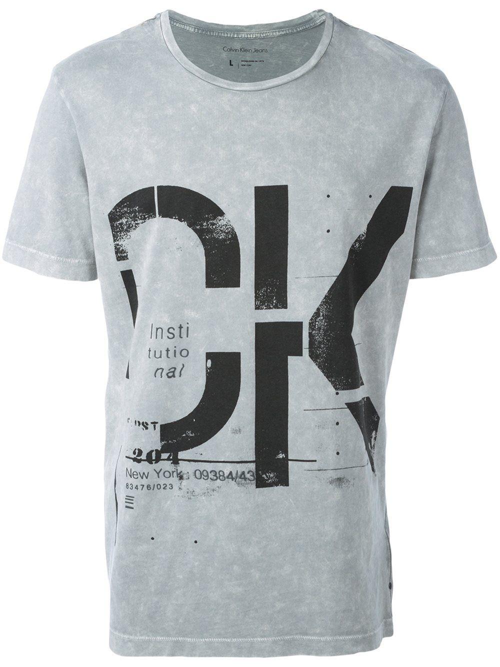 a052e76ae224f Calvin Klein Jeans camiseta con logo estampado