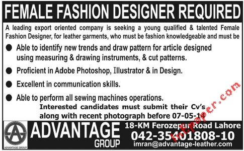 Female Fashion Designer Jobs Lahore Fashion Design Jobs Article Design Fashion Design