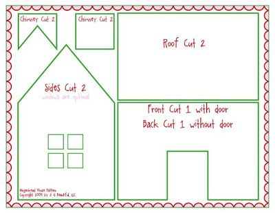 Free printable gingerbread house patterns recipes and for Gingerbread house floor plans