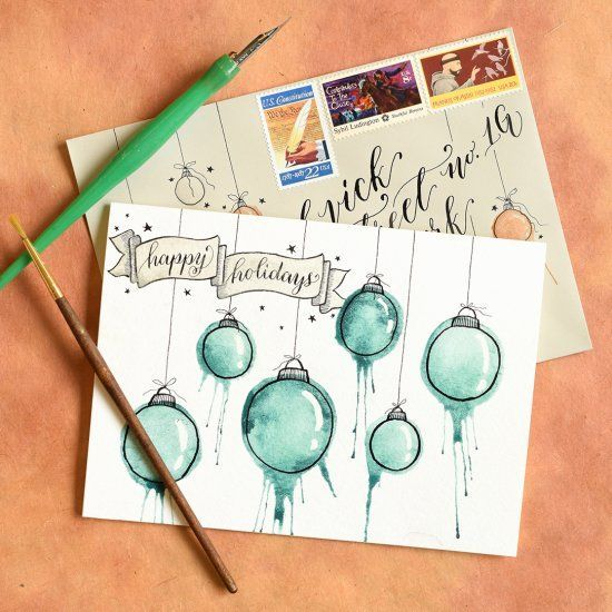 Photo of Artsy DIY Christmas Cards Tutorial (Craft Gawker)