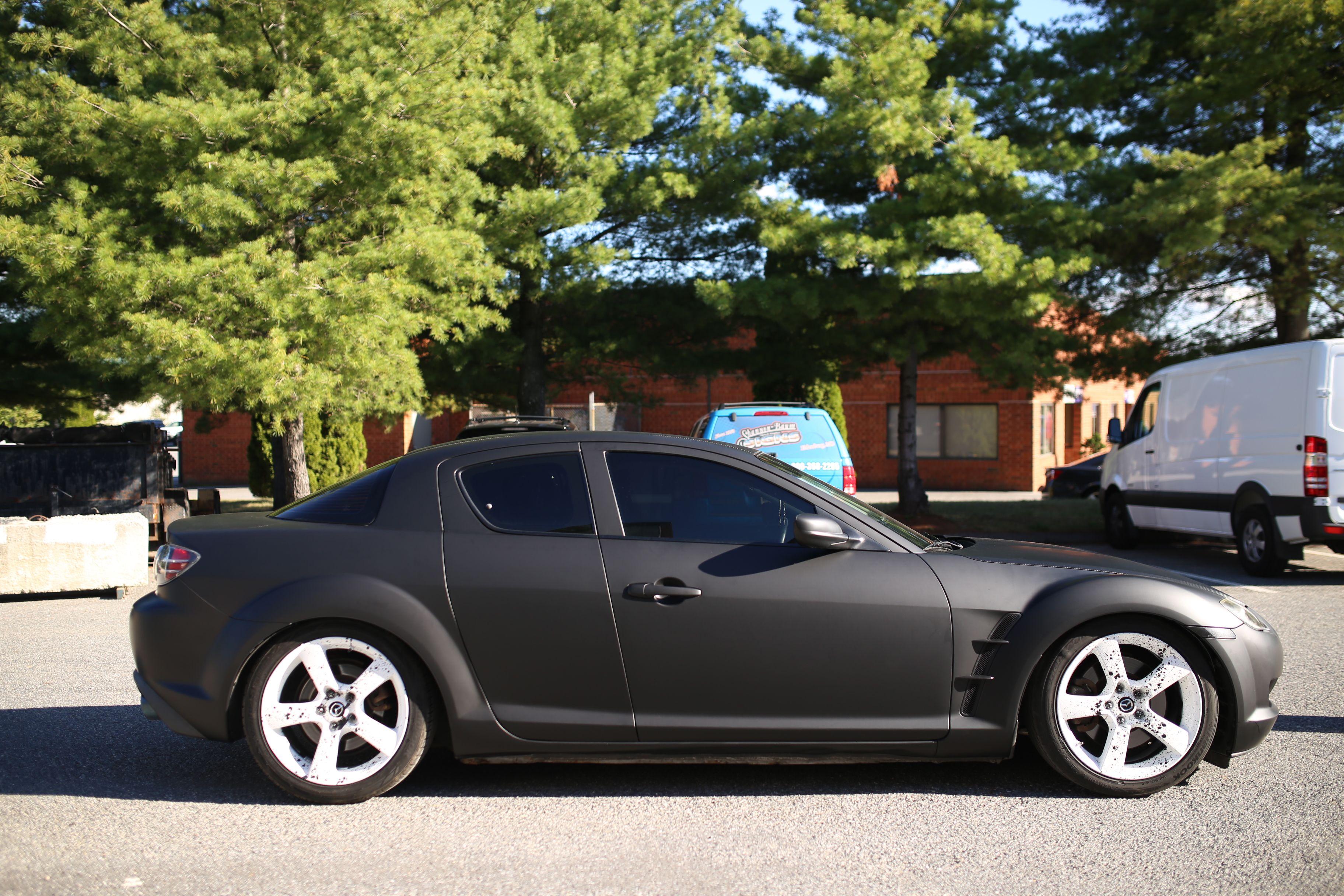 Mazda RX-8 Matte Black wrap  shannonbaum com | Vehicle Wraps