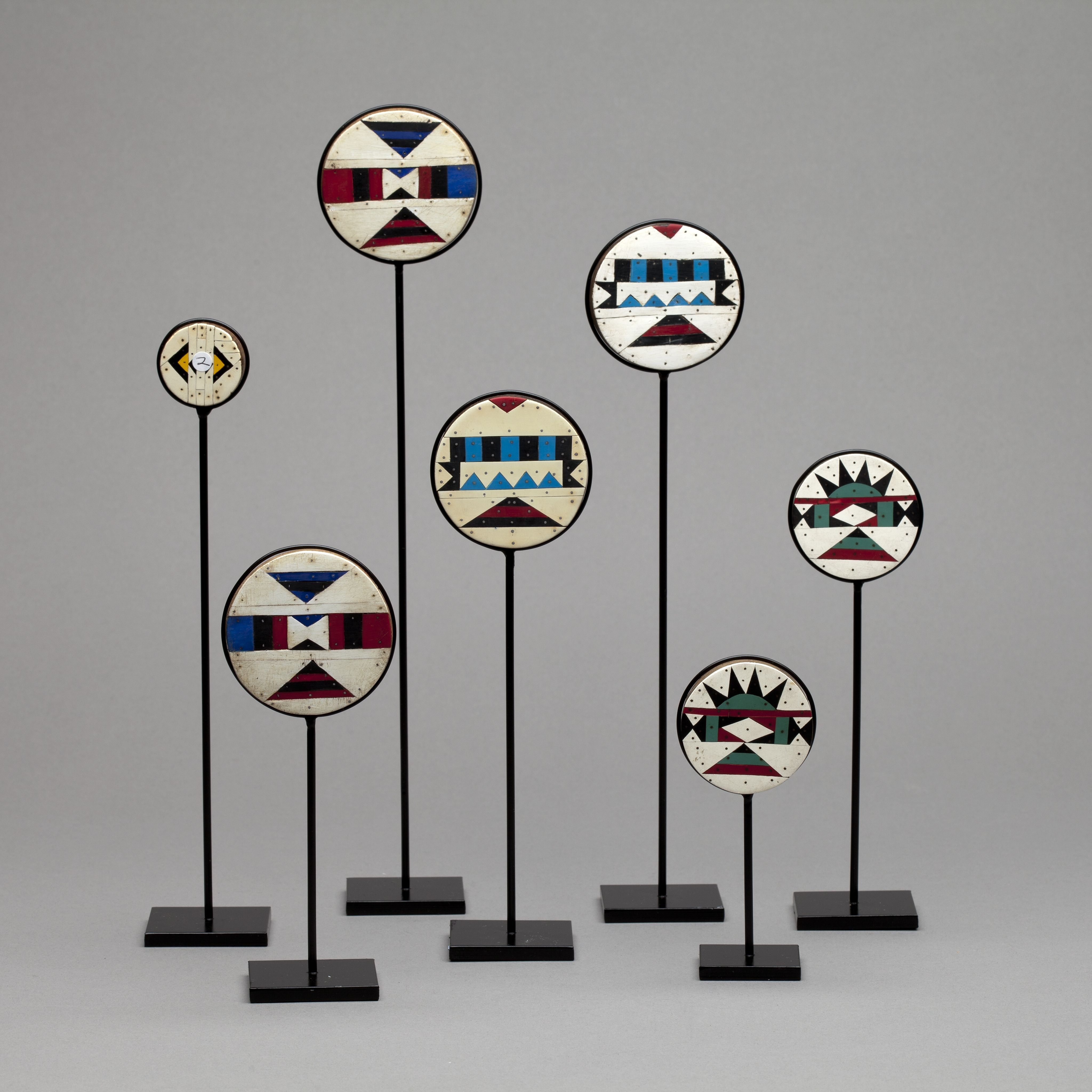 A Group Of Seven Kwa Zulu Earplugs South Africa Circa 1950 The Earplugs Are Made From A South African Soft Wood African Artwork South Africa Art Tribal Art