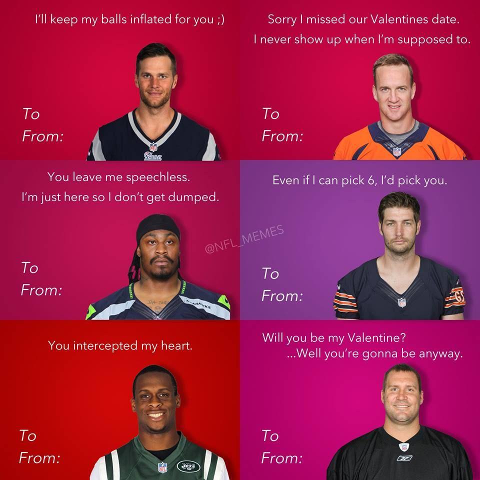 Football Meme 006 Valentine Cards Valentines Memes Memes Valentines Cards