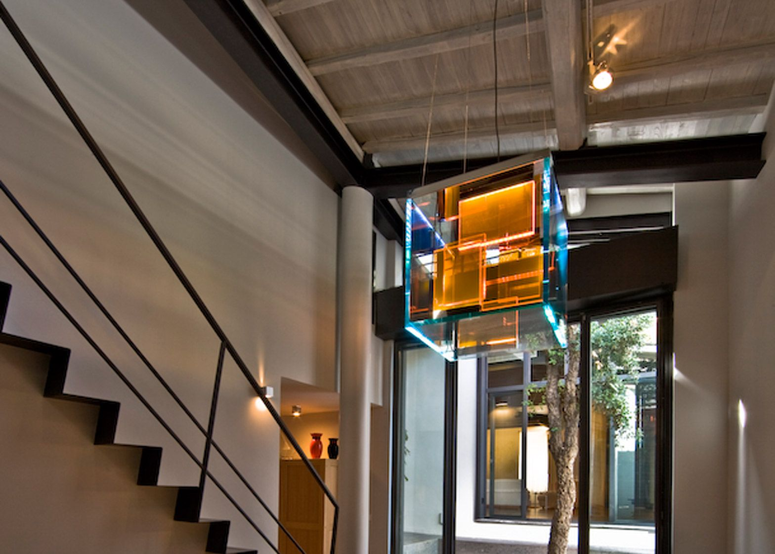 MdAA Architetti Associati transformed an old stable to create this home for a pair of fashion designers in Rome.