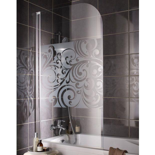pare baignoire floral salle de bain pinterest baignoire ecran de baignoire et salle. Black Bedroom Furniture Sets. Home Design Ideas
