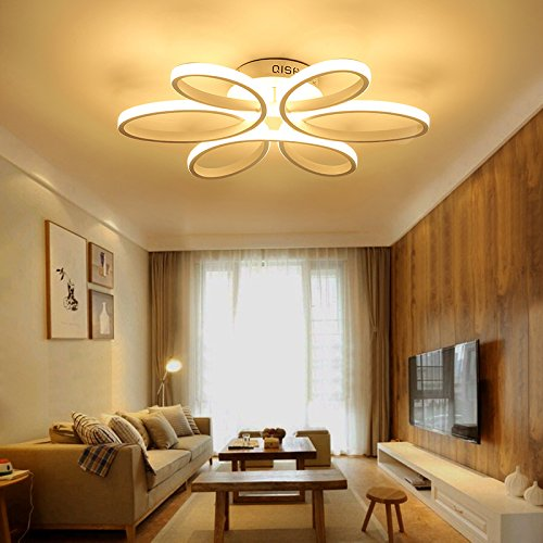 Houdes Modern Led Chandelier Lighting Ceiling Light Fixture Hanging La Ceiling Lights Living Room Ceiling Light Fixtures Living Room Light Fittings Living Room
