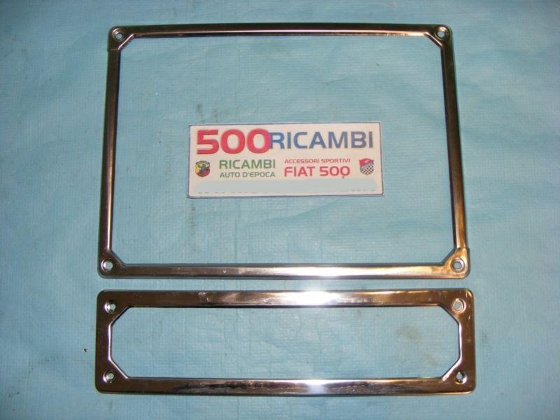 Cornice Targa Cromata FIAT 500 F-L-R 126 Coppia Anteriore+Posteriore