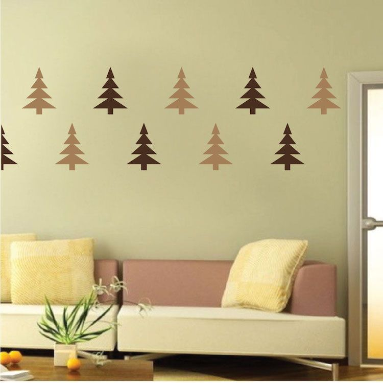 Christmas Tree Wall Decals - Christmas Murals - Primedecals ...