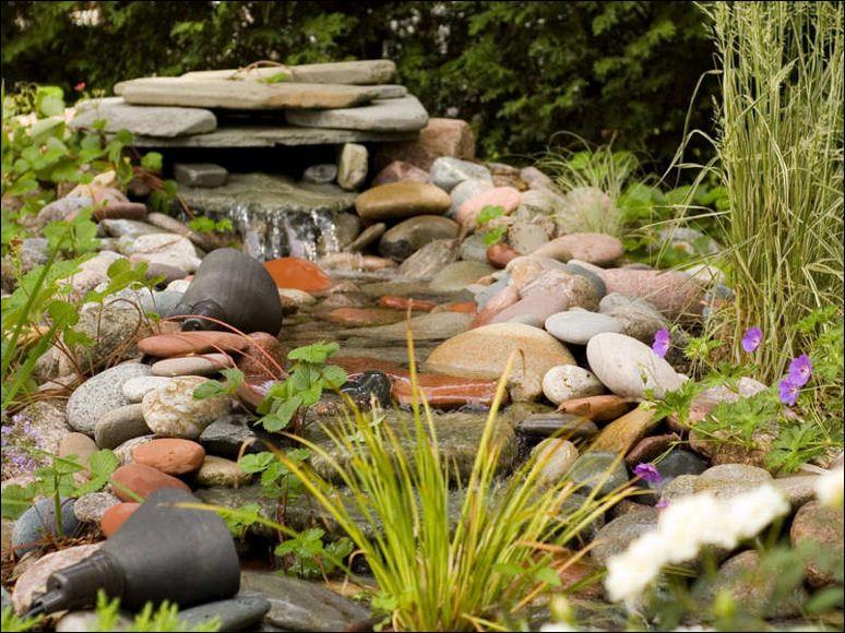 Beautiful Waterfall On The Gentle Stream Stock Photo ... |Gentle Waterfall Pond