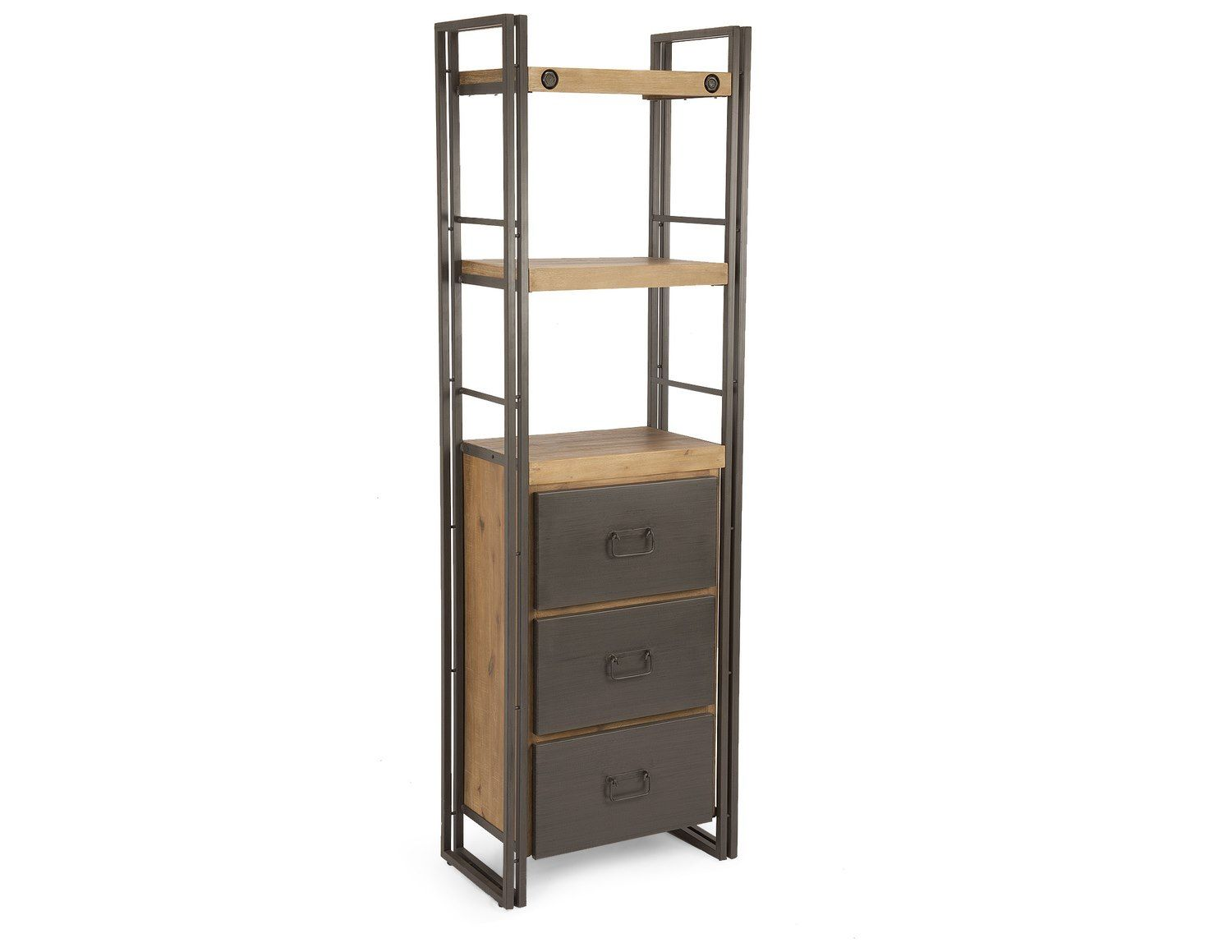 Moes Home Collection Brooklyn 24 X 14 Dark Brown Bookshelf With Drawers