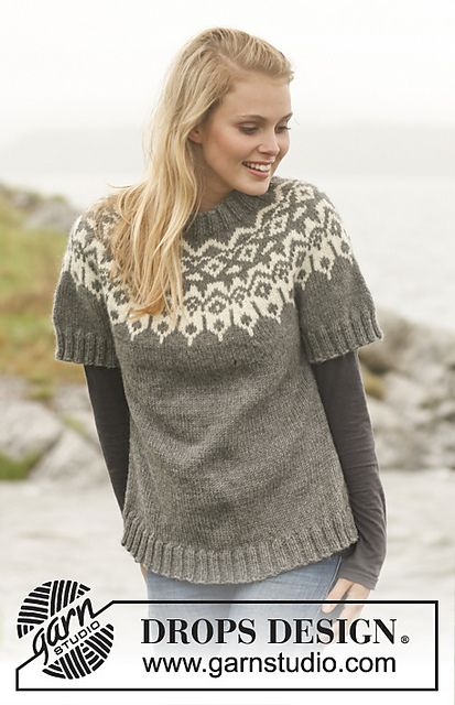 150 31 Arctic Circle Sweater Pattern By Drops Design Knitted