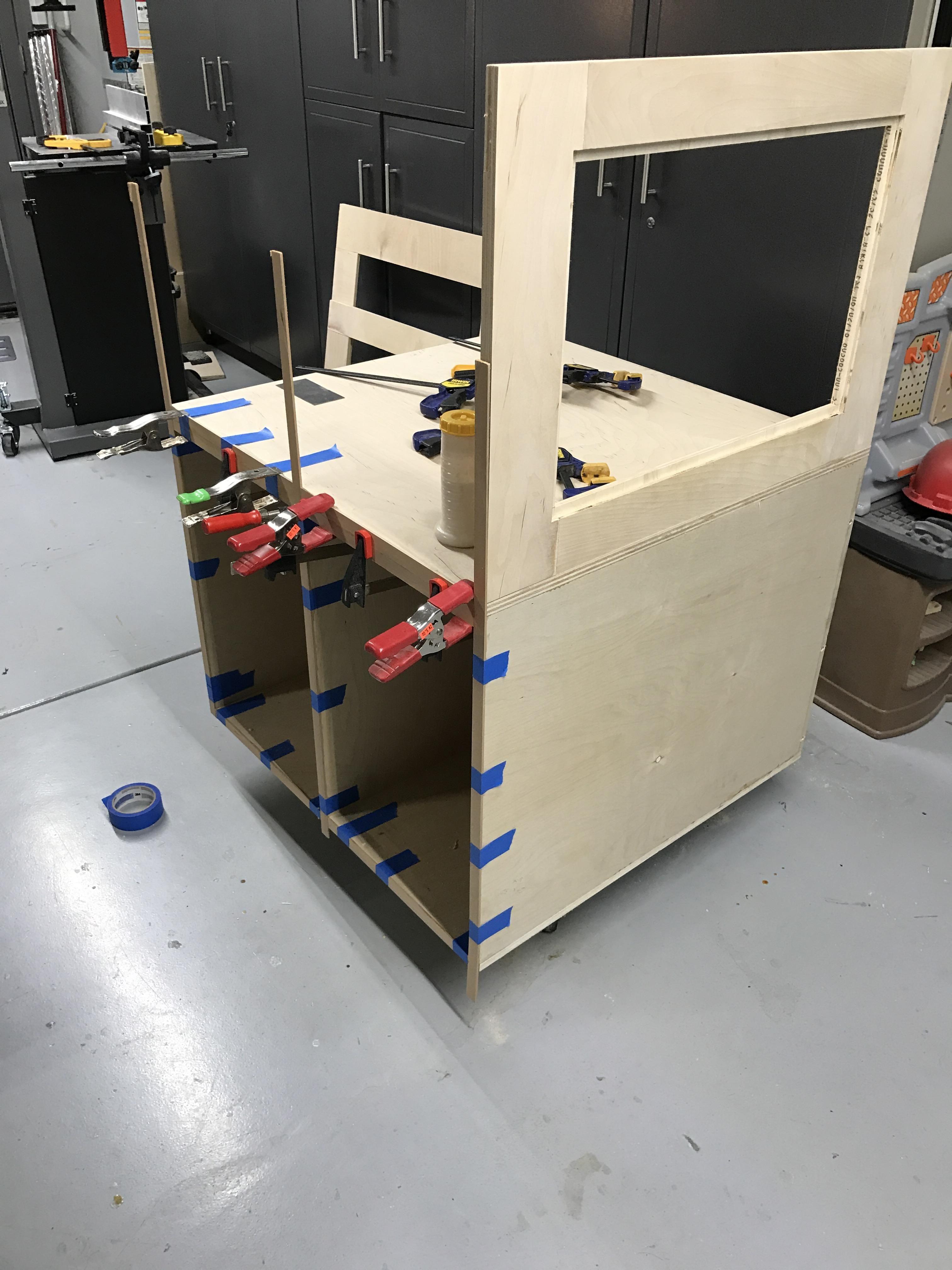 Made an enclosure for my hobby CNC machine. handmade
