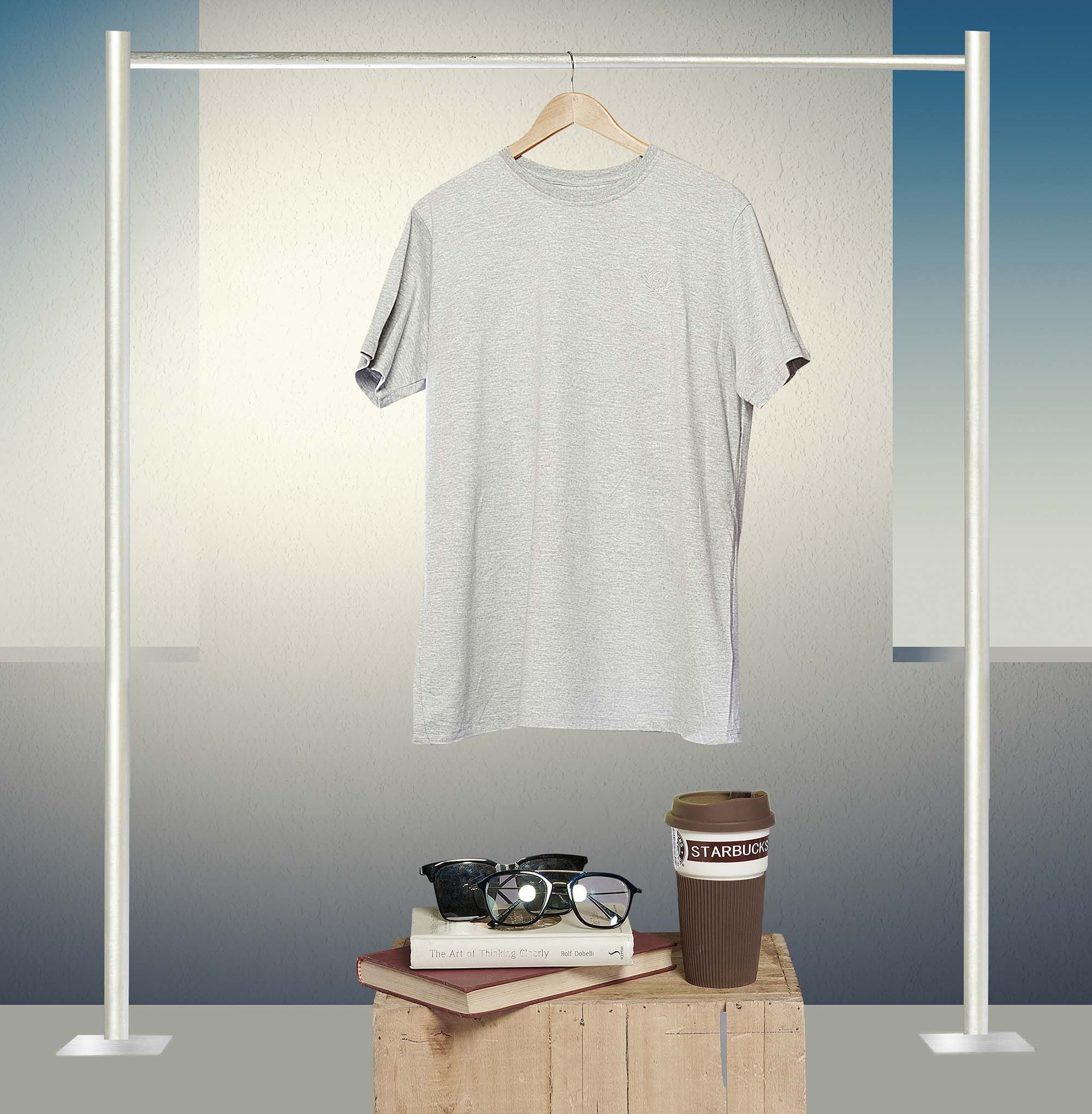 Download Hanging T Shirt Mockup Model Pakaian Pakaian Kaos