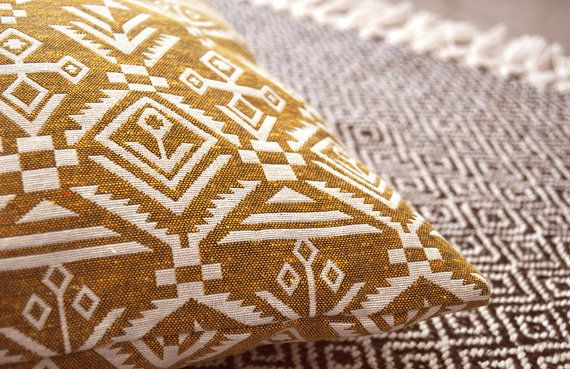 Pillow cover,yellow pillow,Decorative pillow,accent pillow,ethnic pillow,Cushion cover,ikat pillow,Indonesian pillow,Any Size,Free Shipping