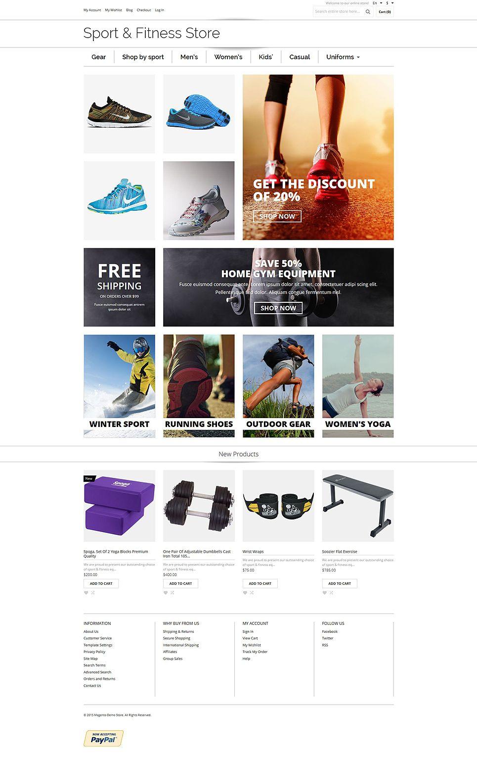 Sports Shop Magento Theme  Shop  Sports  Theme 2a40ca8983
