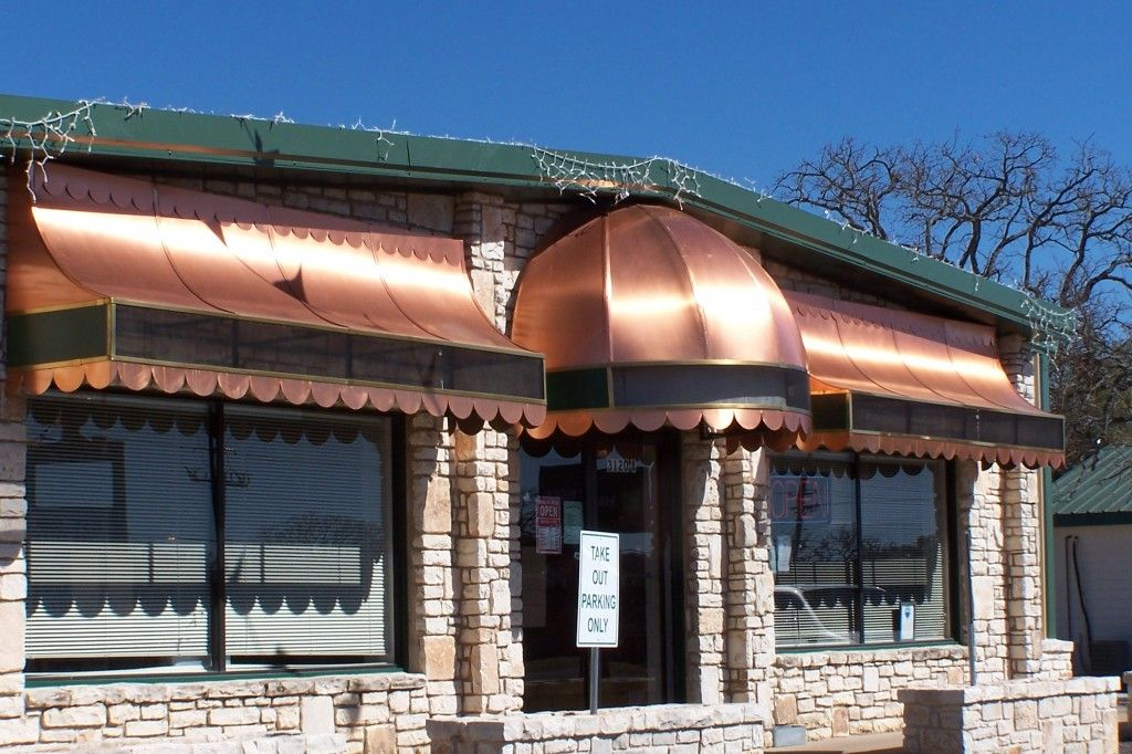 Ohhhh, ahhhh, shiny! Copper awning, Awning, Canvas awnings