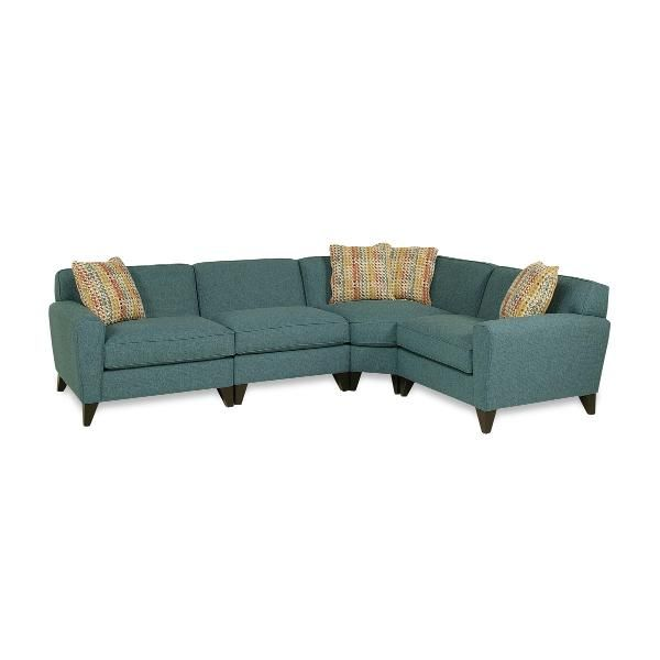 Blue Upholstered 4-Piece Sectional