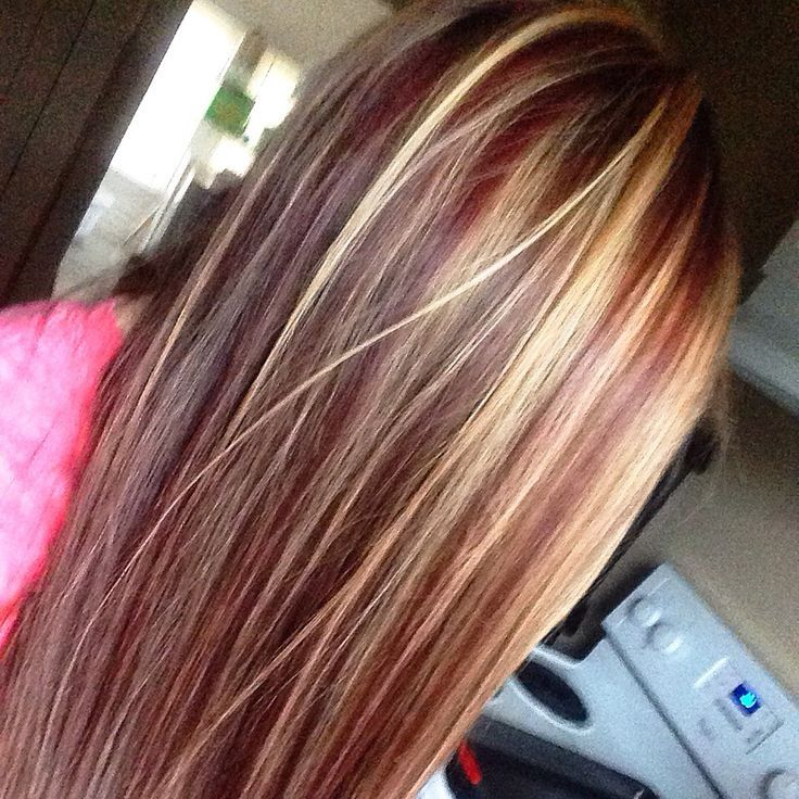 Red Hair With Blonde Highlights Hairstyle Pinterest Red Hair