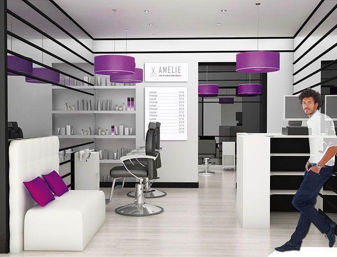 Decoraci n de peluquer a de dise o salon pinterest for Decoracion en peluquerias