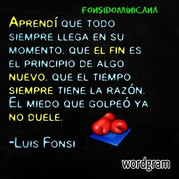 Cancion Aprendi del Disco 8 de Luis Fonsi, Frase