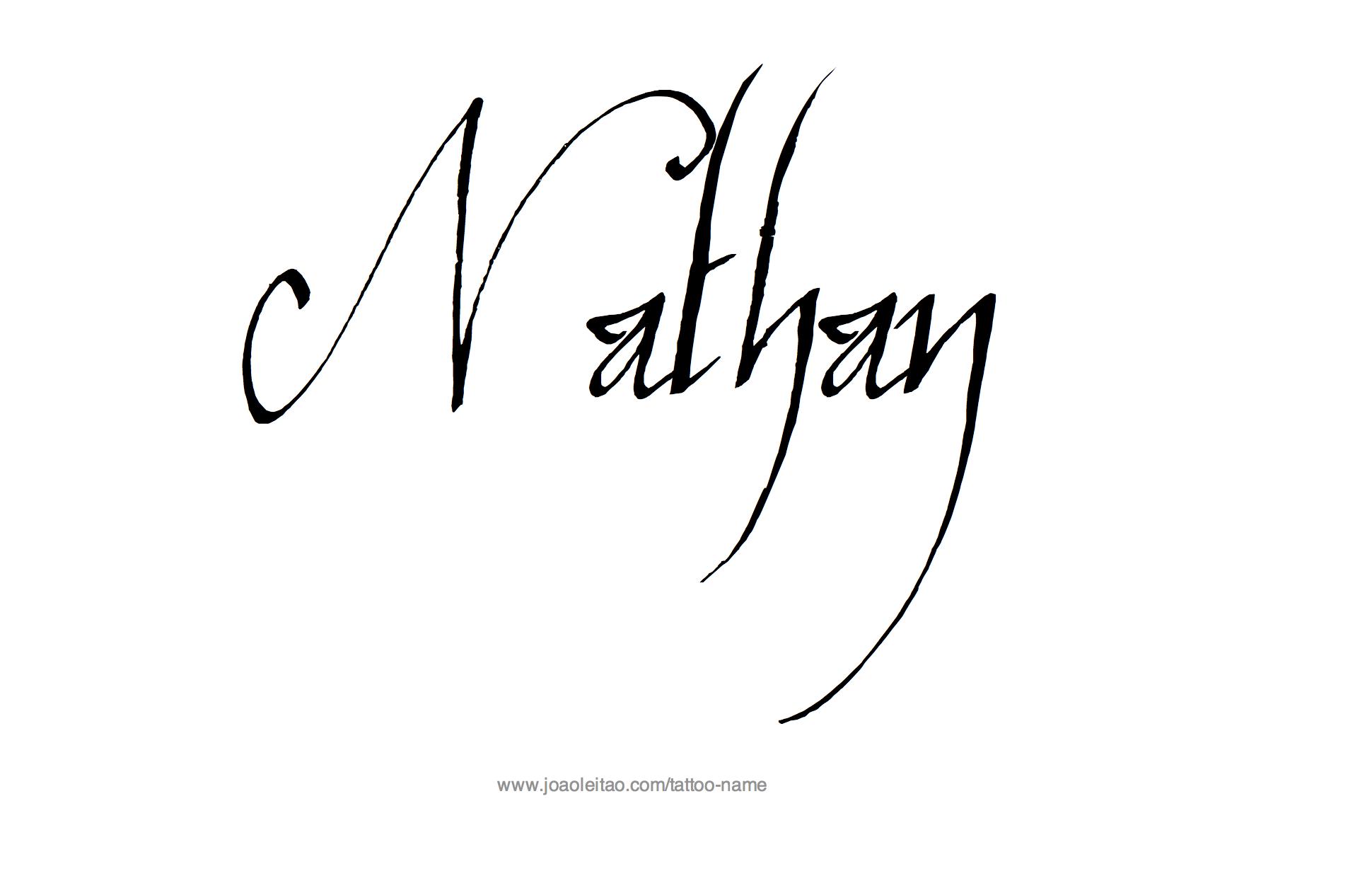 Nathan Name Tattoo