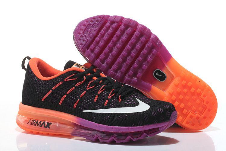 Nike Air Max 2016 Flyknit Women BlackOrangePurple | Skins