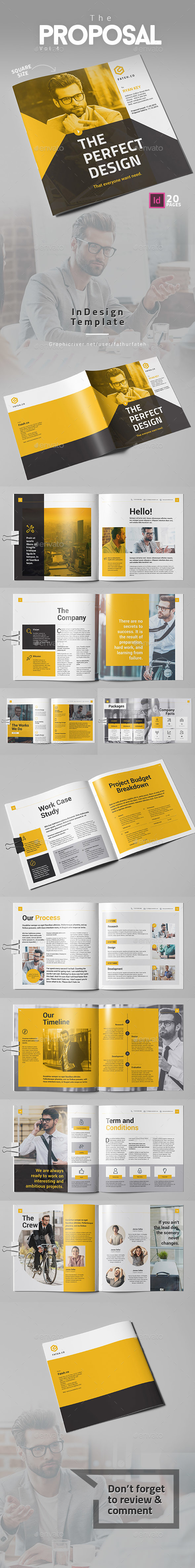 The Square Proposal Brochure Template InDesign INDD | Proposal ...