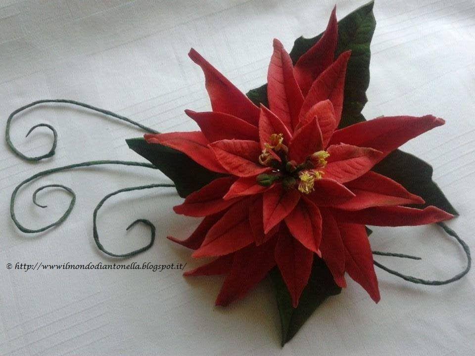 Stella di Natale in pasta di zucchero Tutorial Poinsettia
