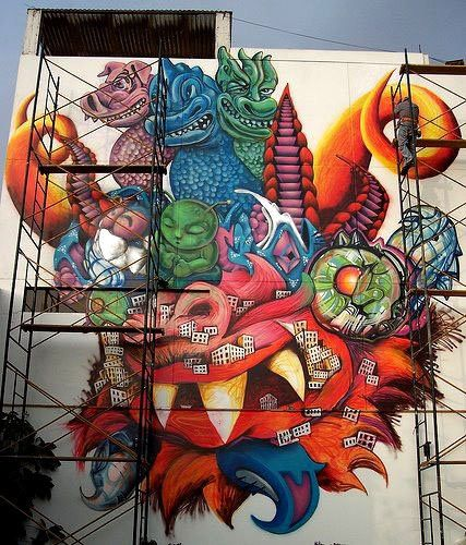 mascara de la diablada en grafitty  winomire  Fotolog