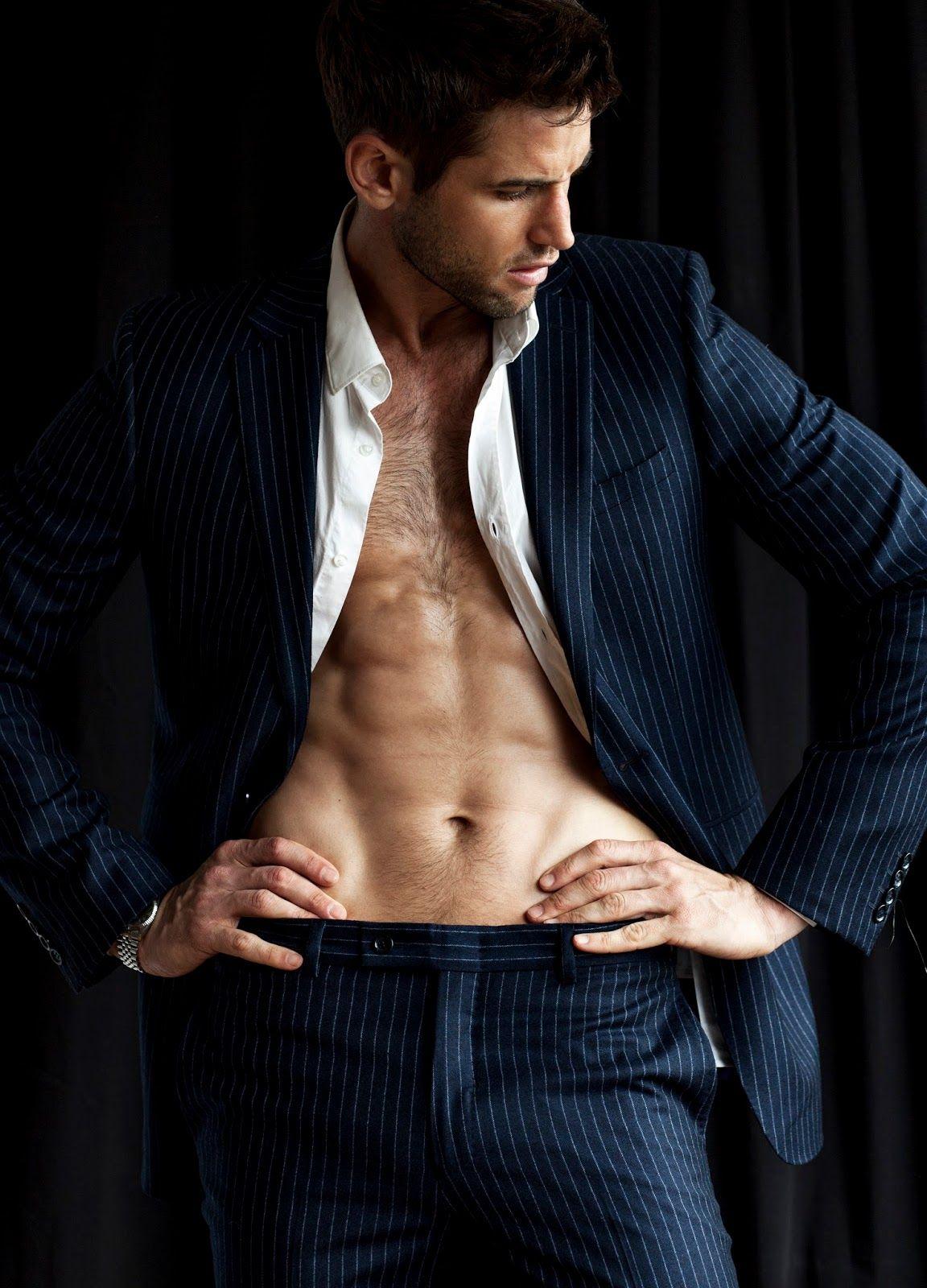 Suit man nude