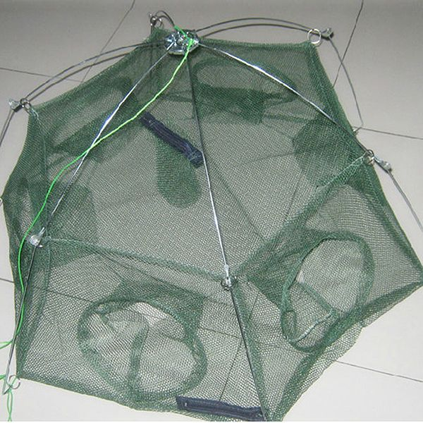 New Minnow Folded Fishing Trap Baits Cast Mesh Floding Fish Crab Nets