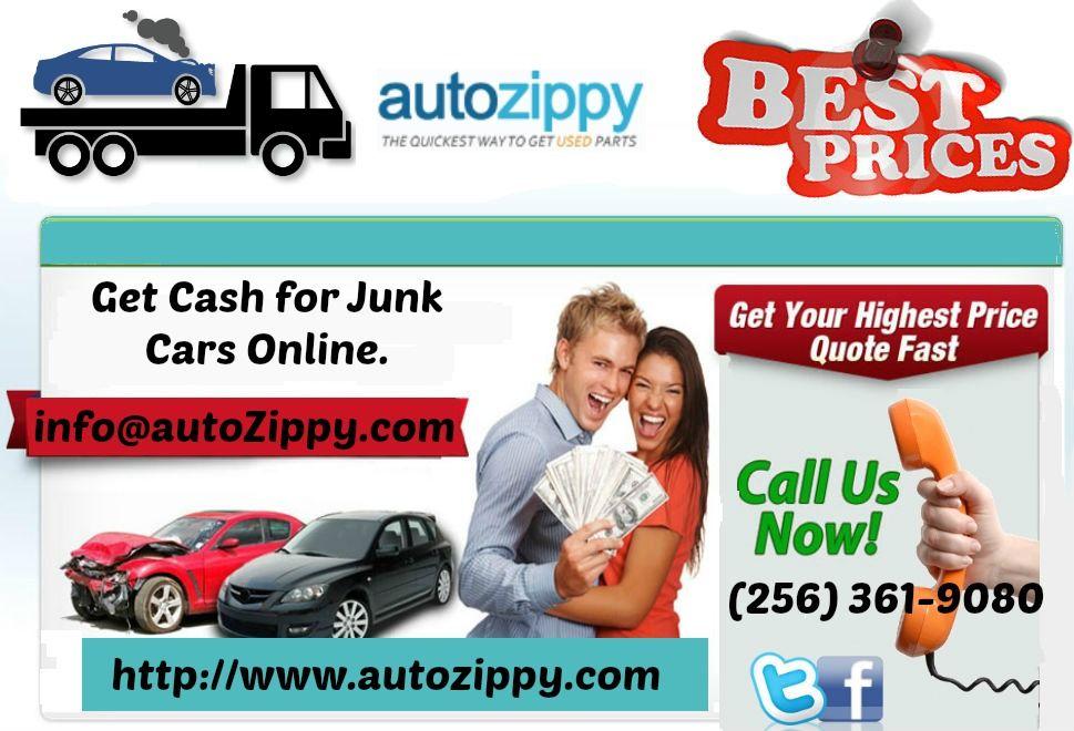 Cash For Junk Cars Online Quote How To Sale Damage Junk Yard Cars  Autozippy Car Parts  Pinterest .