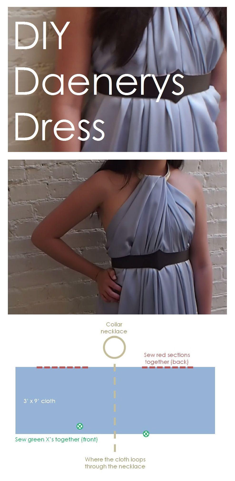 DIY Daenerys Dress Costume inspired by Game of Thrones! Halloween ...