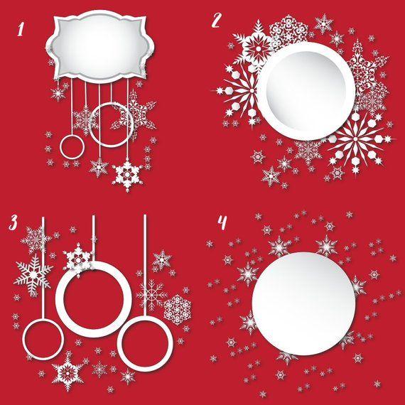 Snowflakes frames, frames clipart, snowflake borders, border clip