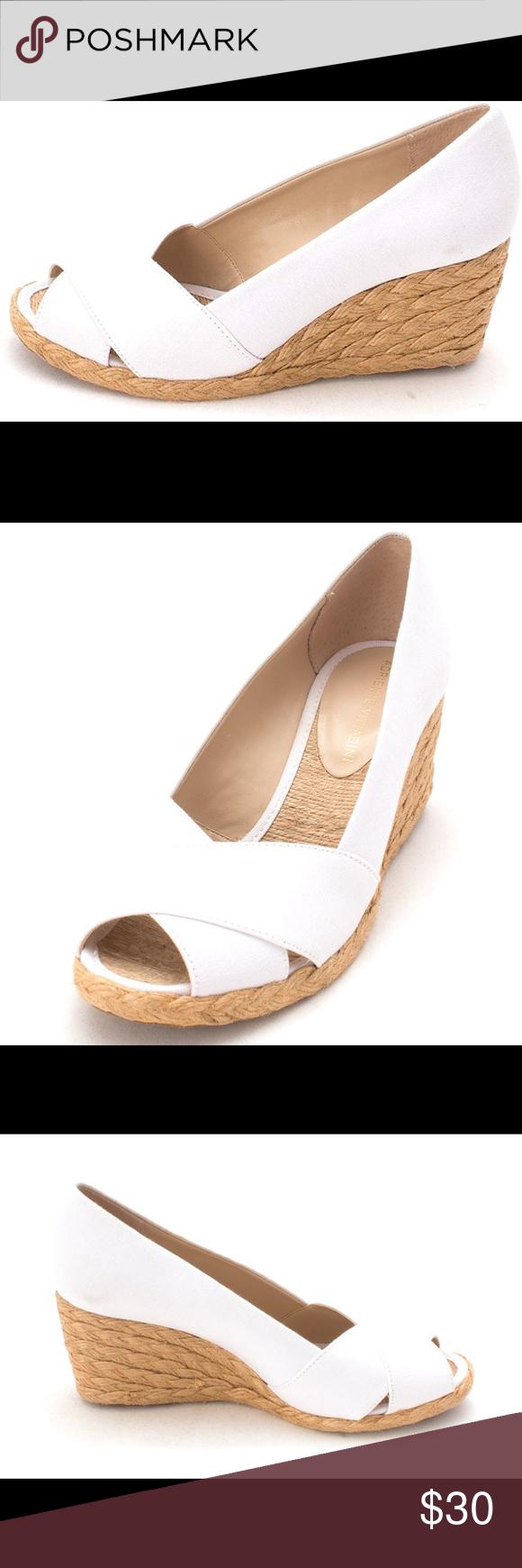 "8894c4f2770d Adrienne Vittadini Bailee Wedge Adrienne Vittadini peep toe Bailee wedge  espadrilles pumps. 3"" height. EUC!!!! Adrienne Vittadini Shoes Wedges"