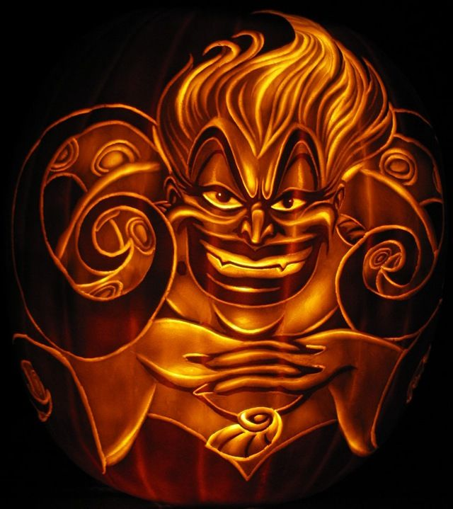 Terrific disney villains pumpkin carvings
